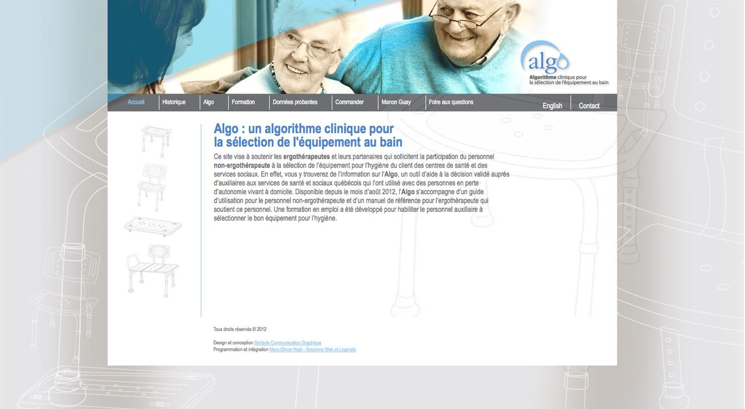 ALGO Algorithme clinique pour la sélection de l'équipement au bain