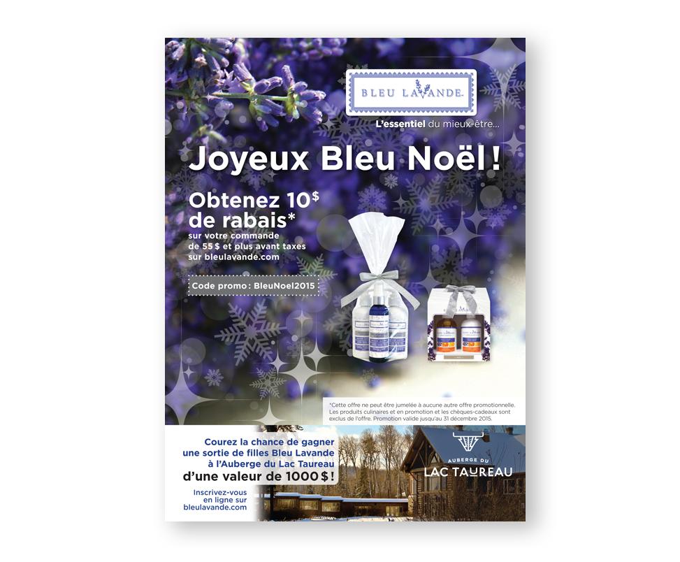 Bleu Lavande publicité de Noël magazine
