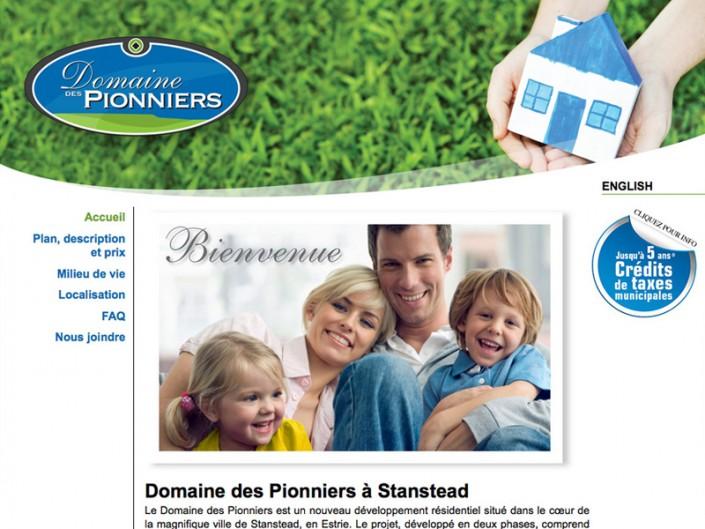 Site Web Domaine des Pionniers