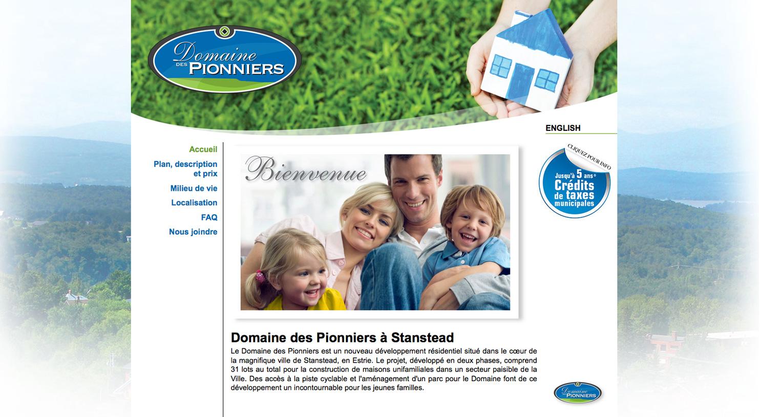 Domaine des Pionniers site web