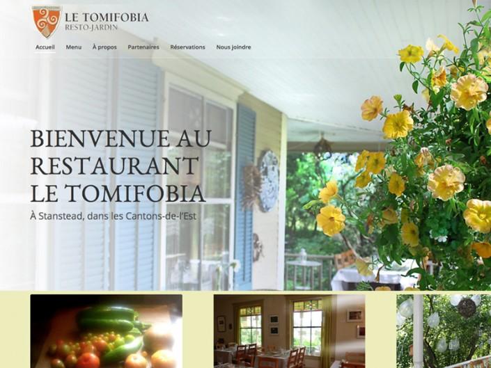 Site Web Restaurant Le Tomifobia