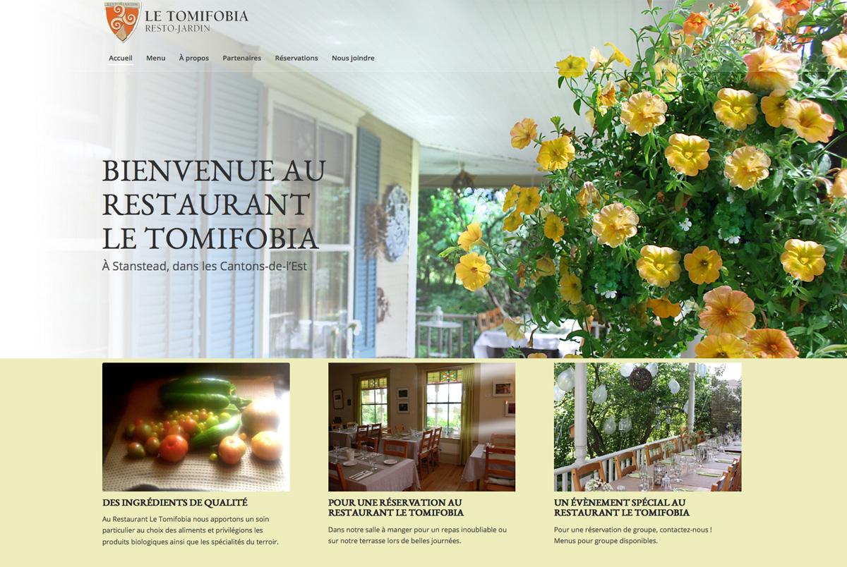Restaurant Le Tomifobia site web