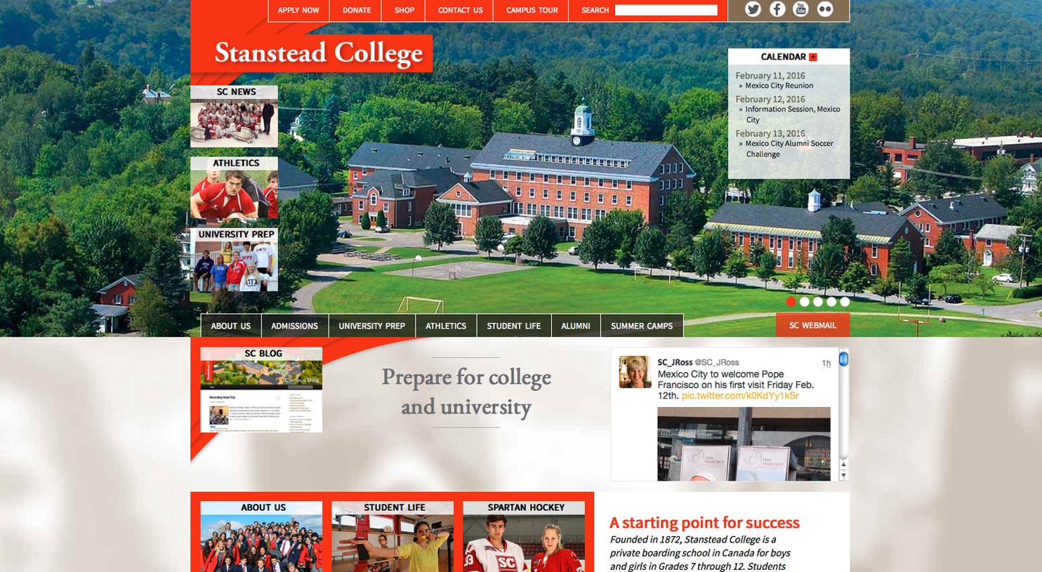 Stanstead College site web