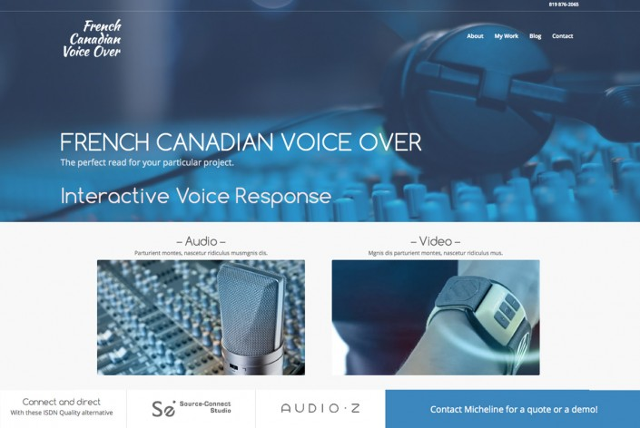 Site Web French Canadian Voice Over